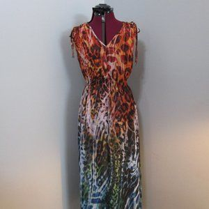 Simon Chang Sleeveless Maxi Dress Large